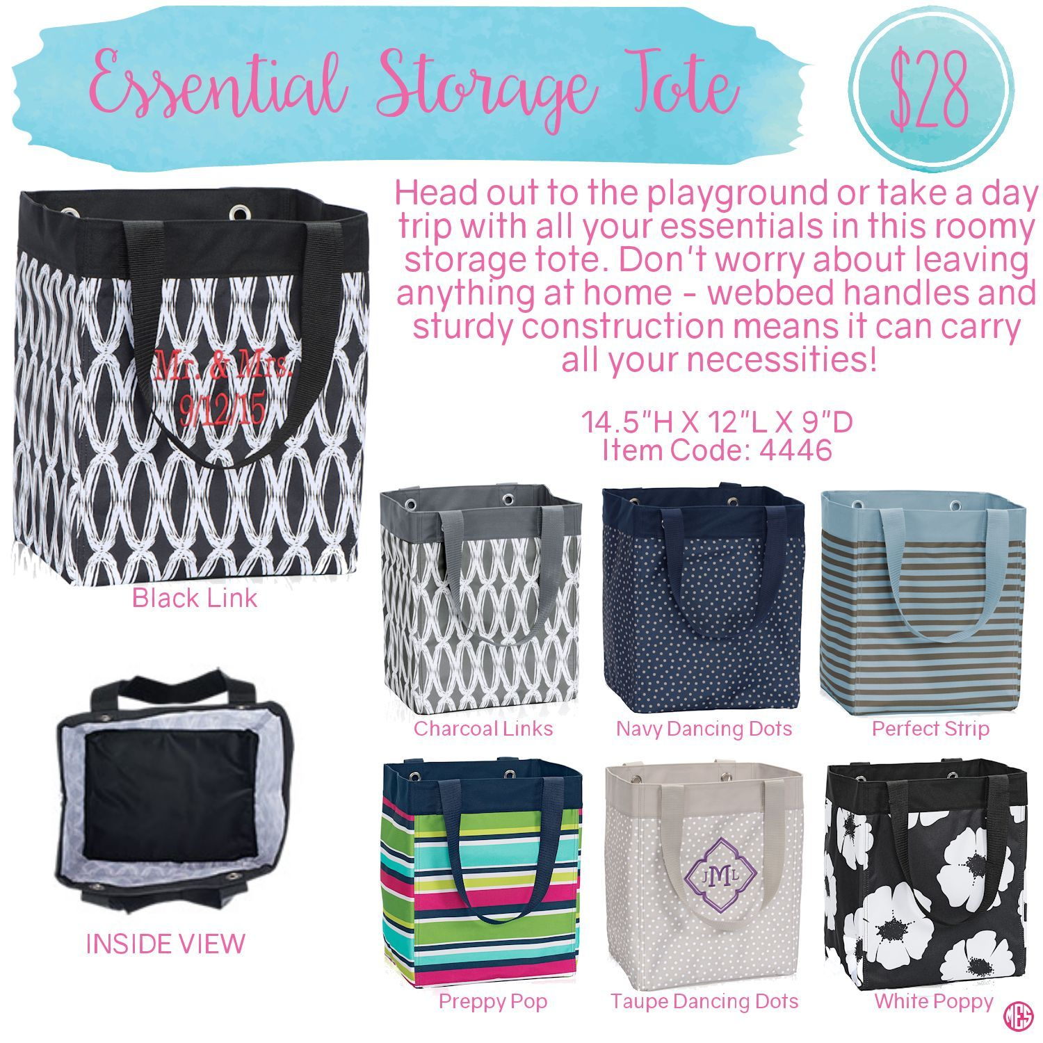 Gentil Essential Storage Tote By Thirty One. Spring/Summer 2016. Click To Order.  Join My VIP Facebook Page At  Https://www.facebook.com/groups/1603655576518592/