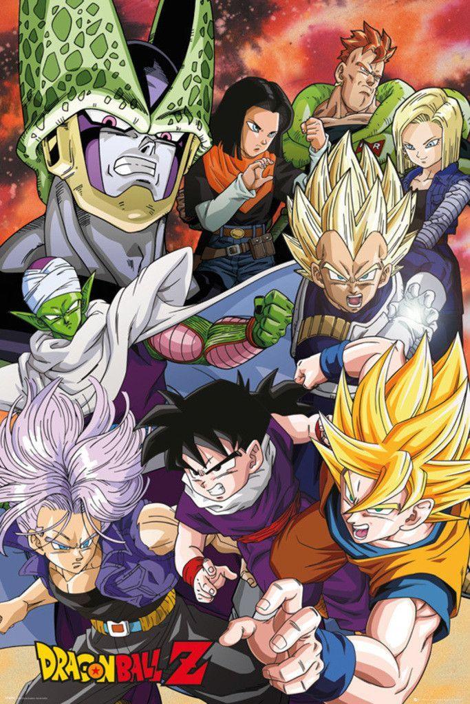 Dragon Ball Z Cell Saga Official Poster Dragon Ball Z Anime Dragon Ball Dragon Ball