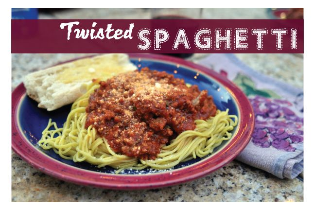 Love this twisted spaghetti with fab lemon noodles!