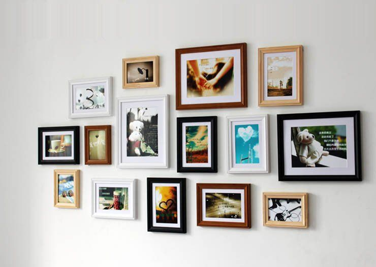 Wood Photo Picture Frame Wall Collage Wooden Multi Picture Photo