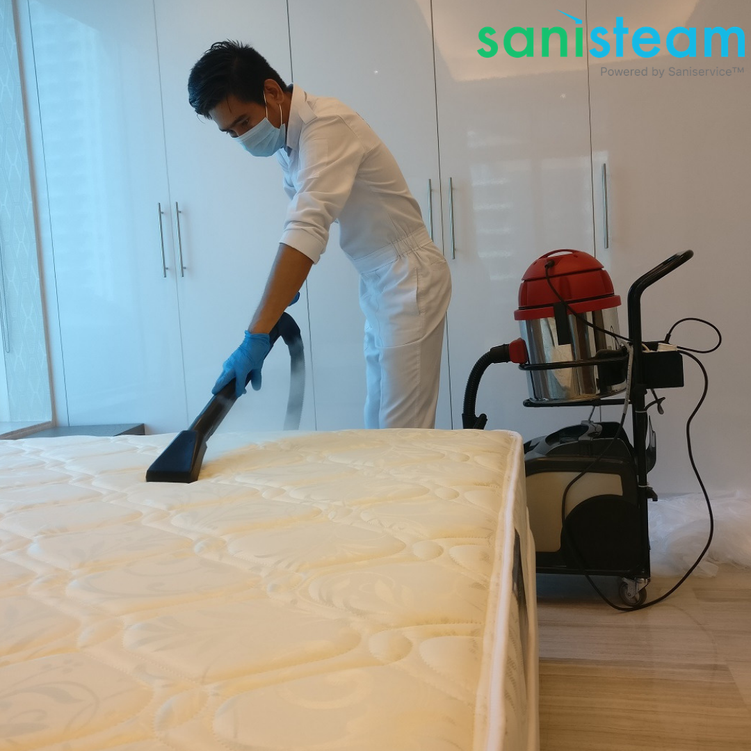 Complete Mattress Disinfection Using Steam By Saniservice Visit Www Saniservice Com Steam To Know More Cleaning Disinfec Disinfect Steam Steam Cleaning