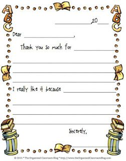 Thanks Thank You Note Template Classroom Freebies Classroom Writing