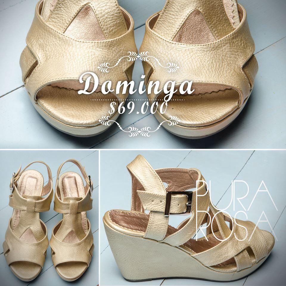 709a9de0 Sandalia PURA ROSA doradas plataforma comodidad | Calzados y ...