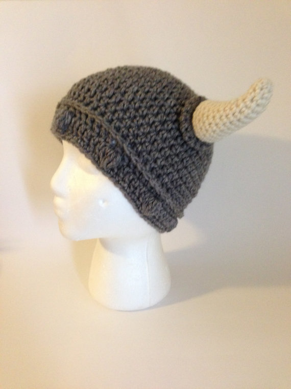 Viking #crochet hat pattern available in our etsy store | Gramma ...