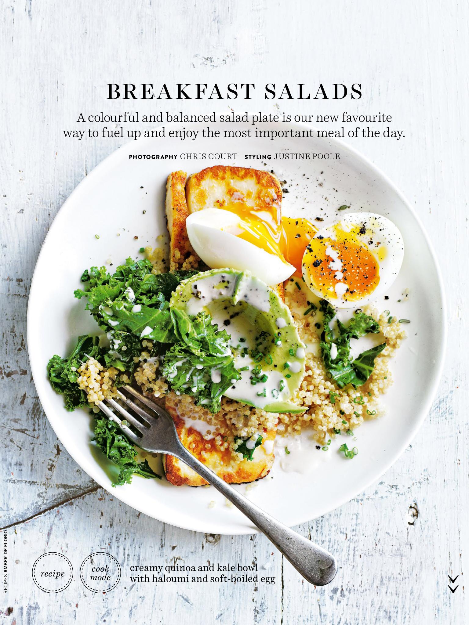 Breakfast Salad In 2020 Healthy Breakfast Recipes Meals
