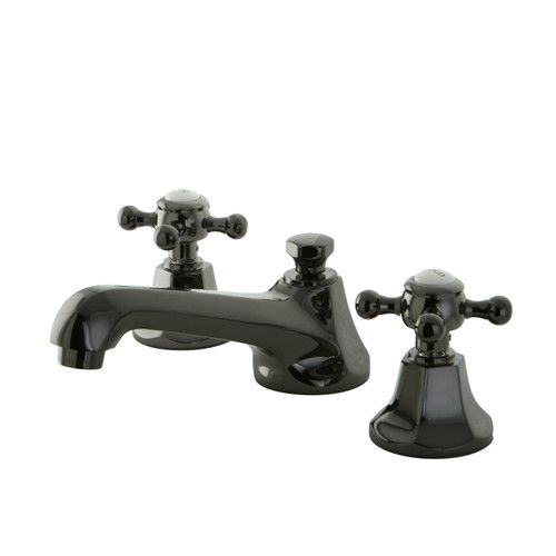 Water Onyx Widespread Bathroom Faucet with Brass Pop-Up Drain ...