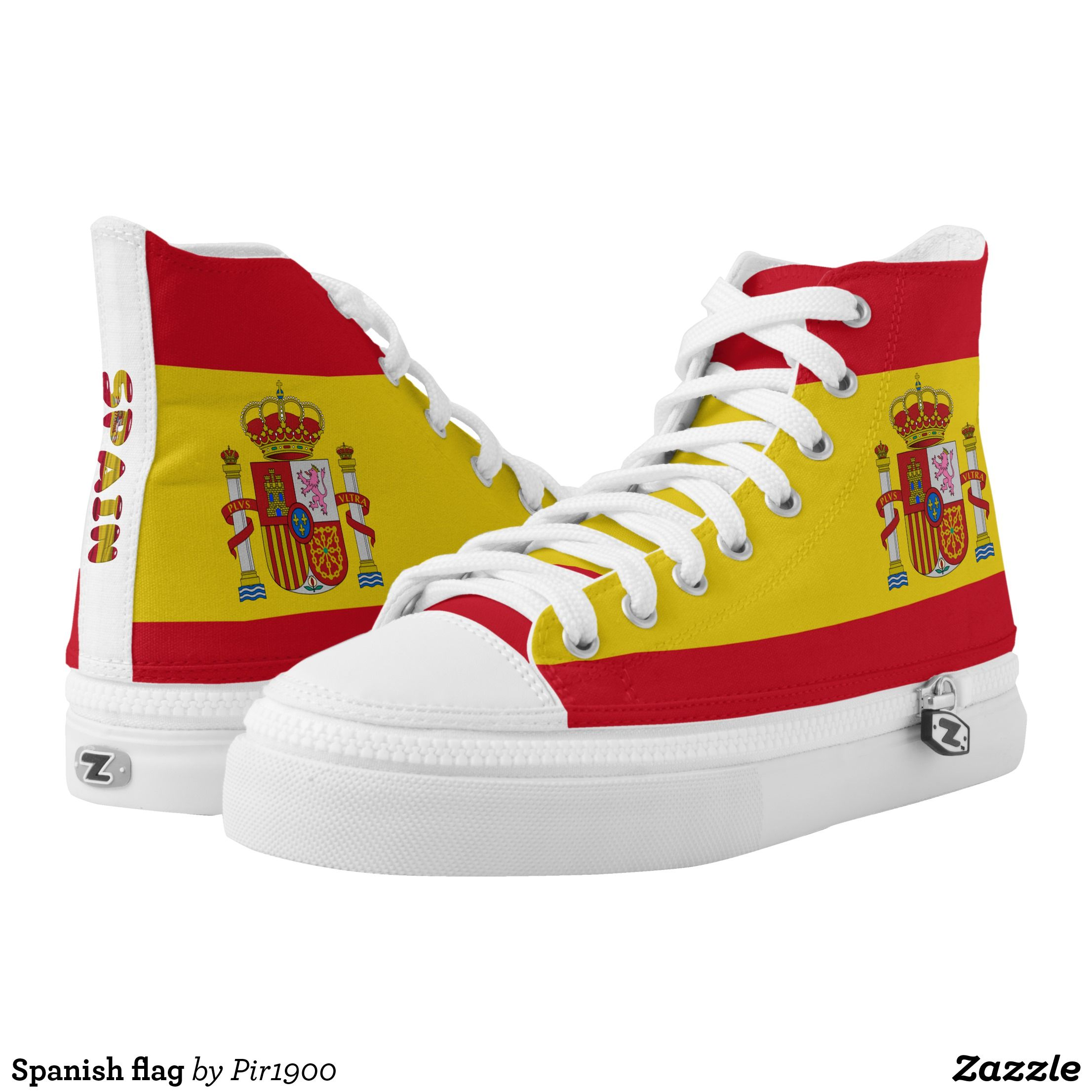 ab10db369d003b Spanish flag High-Top sneakers - Canvas-Top Rubber-Sole Athletic Shoes By  Talented Fashion And Graphic Designers -  shoes  sneakers  footwear   mensfashion ...
