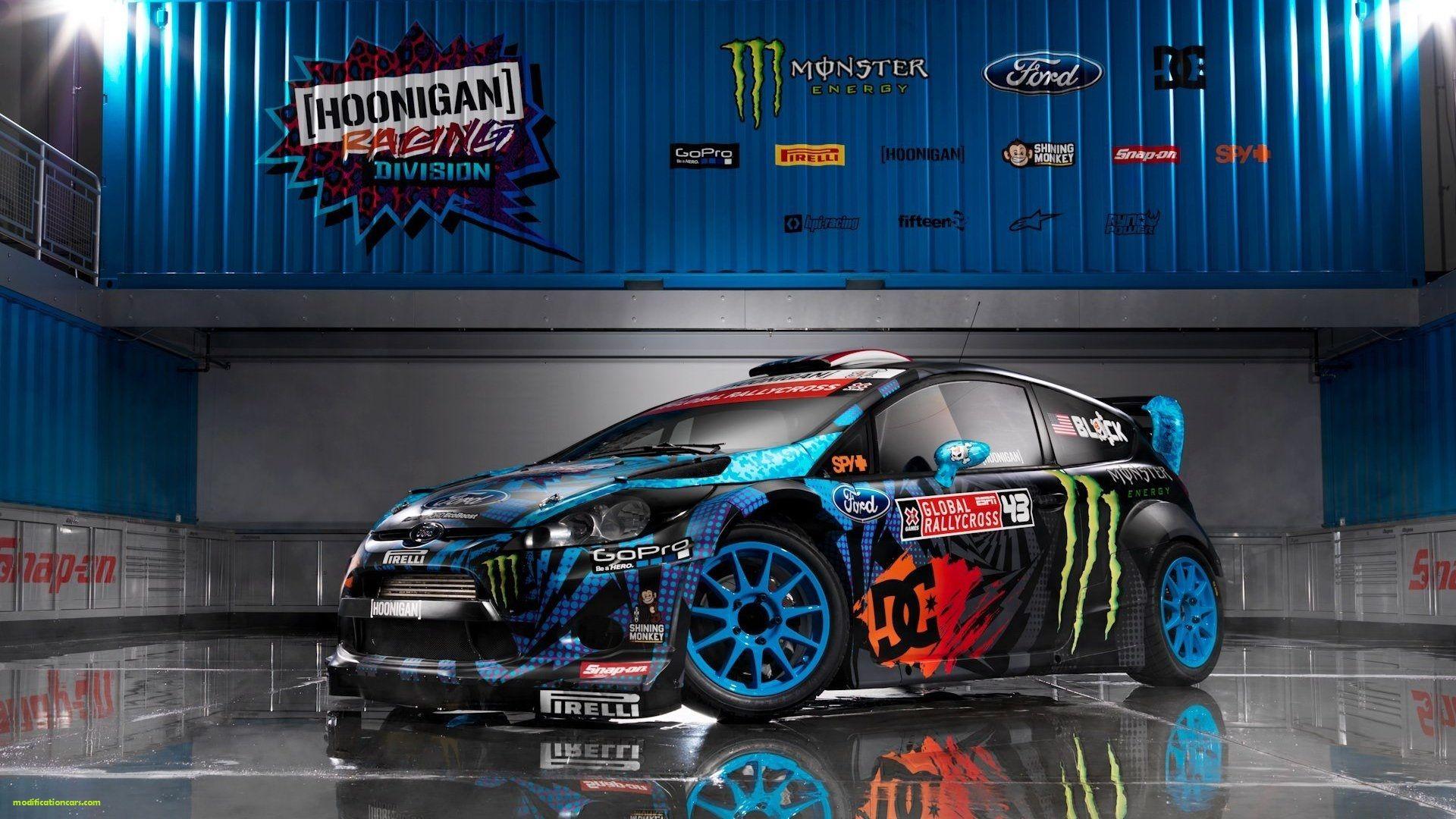 Ford Fiesta RS WRC 2013 Modification Monster Energi HD Wallpaper