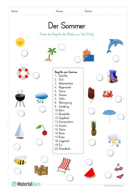 Photo of Et gratis regneark for sommeren, hvor barna 20 illustrasjoner for …