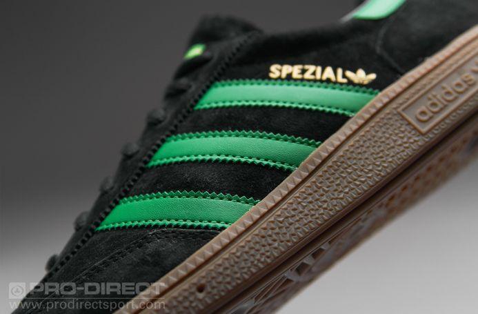 Sepatu Sneaker Adidas Originals Spezial Black Green Gold Sepatu