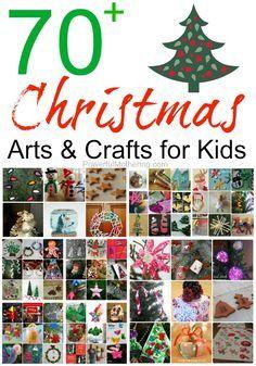 70+ Christmas Arts & Crafts for Kids - http://www.powerfulmothering.com/70-christmas-arts-crafts-for-kids/   http://weathertightroofinginc.com #hemet #christmas #christmasstuff #christmaslights #christmasrecipies #christmasrecipieseasy