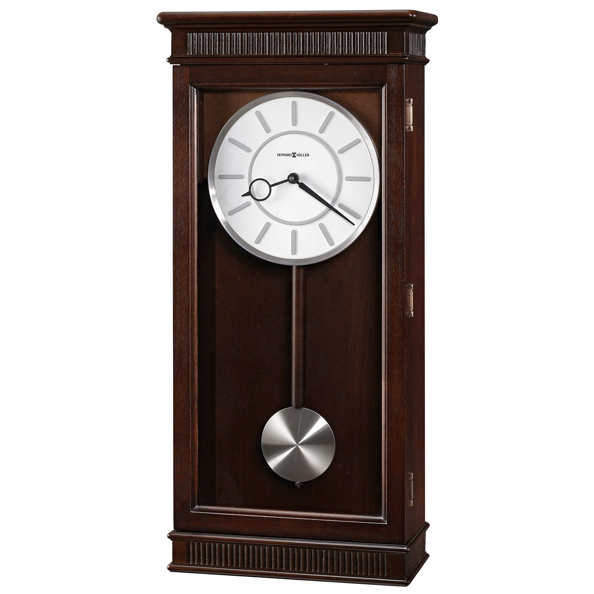 Howard Miller Kristyn Grandfather Style Chiming Wall Clock With Pendulum Charming Contemporary Modern Tr In 2020 Chiming Wall Clocks Pendulum Wall Clock Wall Clock