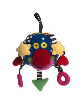 """Baby can tug, shake, and hug this fun """"Whoozit"""" stuffed face toy."""
