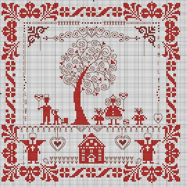 Домашний оберег схема вышивки крестом
