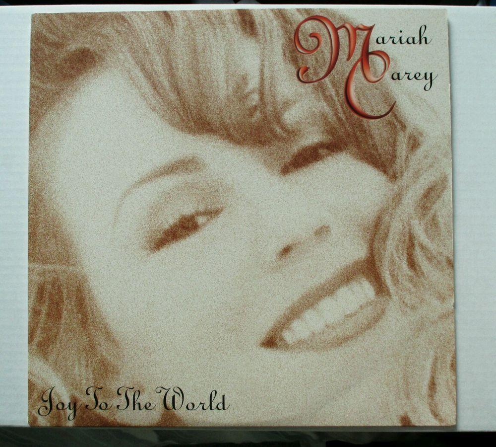 "Mariah Carey JOY TO THE WORLD single 5 MIXES RED 12"" VINYL"