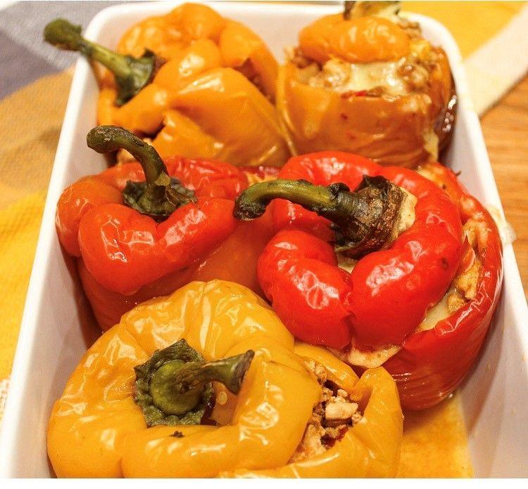 Mexican Ground Turkey Stuffed Pepper - Swinton Kitchen #groundturkeytacos