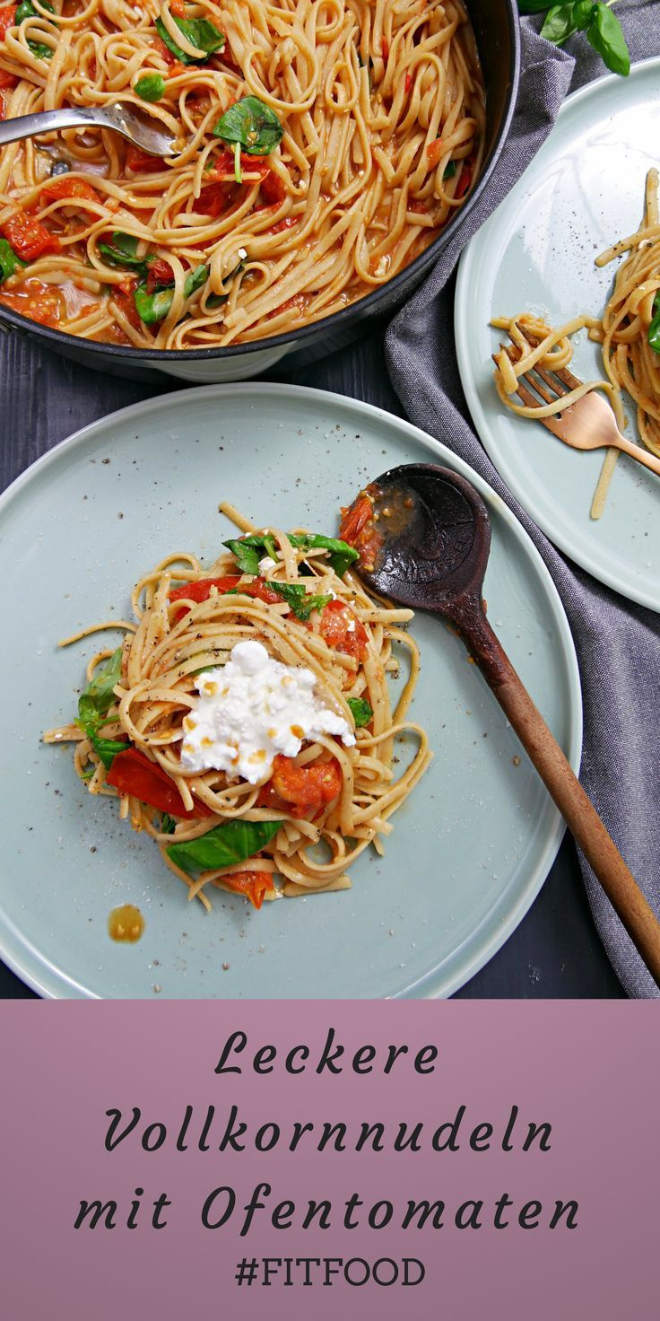 Photo of super tasty whole grain pasta with oven tomato sauce