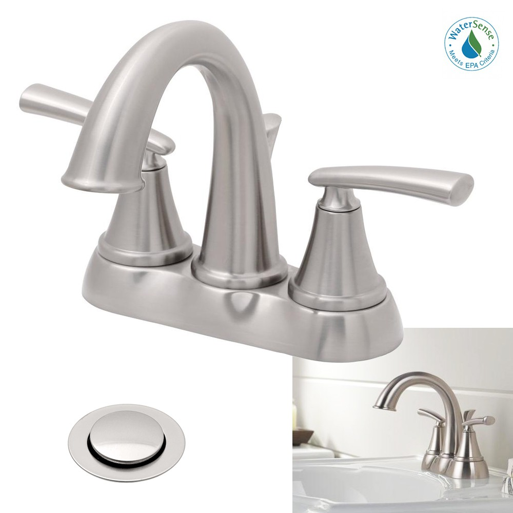 Delta Faucet Kennett 2 Handle High Arc Bathroom Sink Bath Faucet Brushed Stainless Nickel Delta Faucets Bath Faucet Faucet