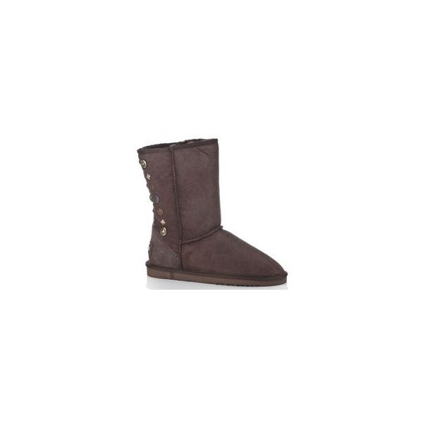 Australia Luxe Collective Brown Knuckle Mid Calf Boots via Polyvore