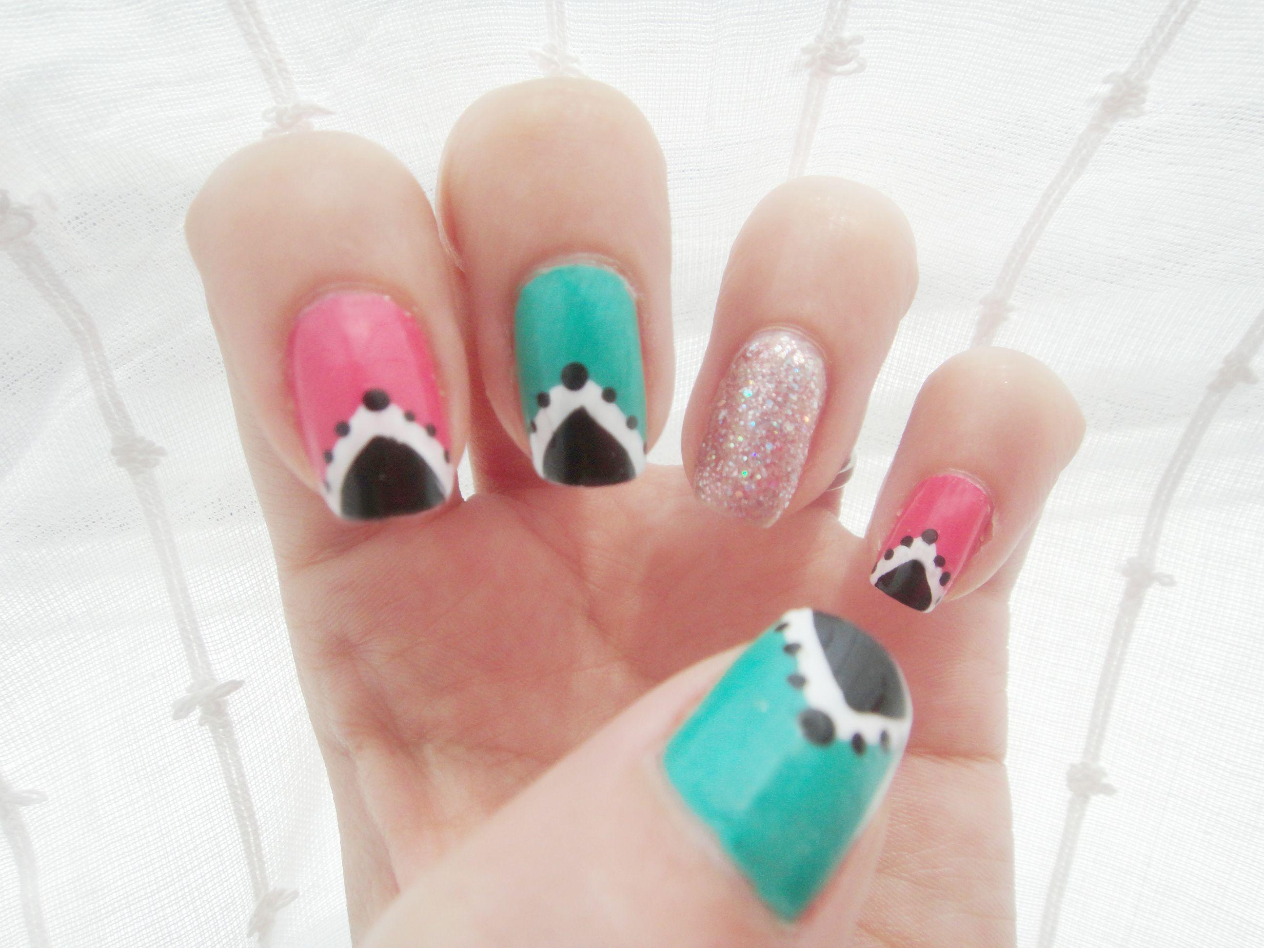 Pink and aquamarine! -Made by myself, Cindy Muñoz-