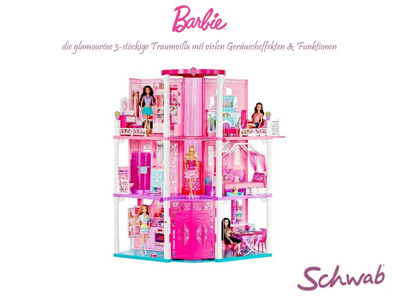 Mit dieser Traumvilla bekommt die #Barbie Eures Nachwuchses ein besonders schönes Zuhause!