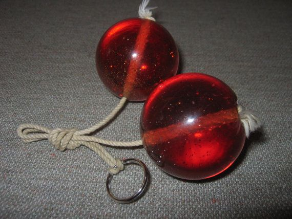 Vintage Lucite 1960s Toy Klackers Clackers By Properlyvintaged
