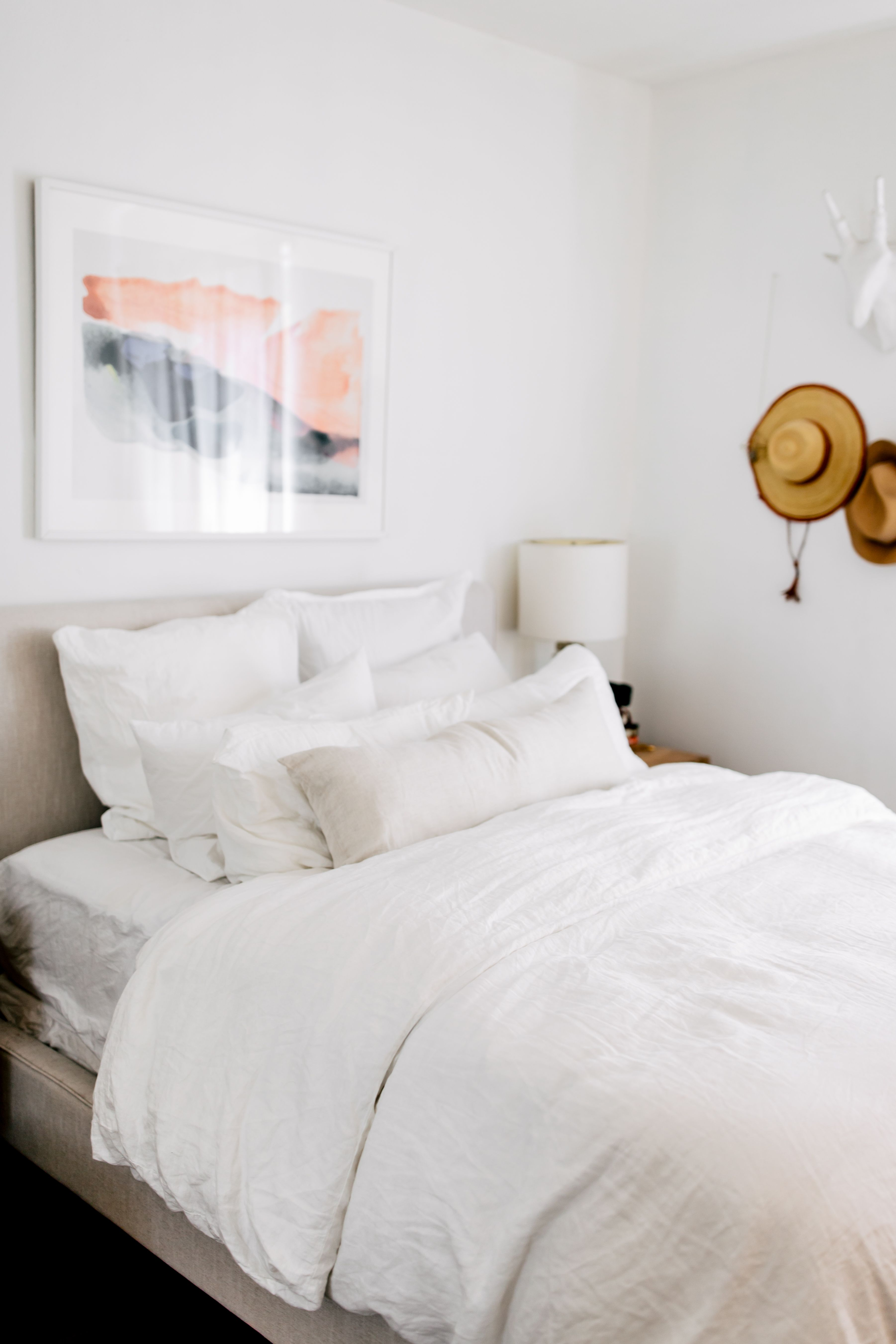 Embrace The Ultimate Calm With All White Soft Minimalist Linen Sheets Photo By Wesley Taylor For Parachute