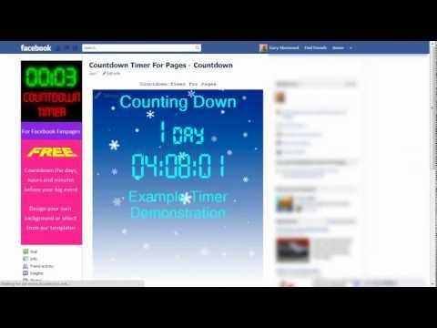 countdown timer for facebook | Want to's, how to's and ideas