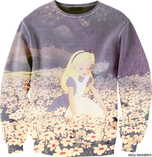 Alice In Wonderland Sweater How Am I Just Seeing This Now So Cute