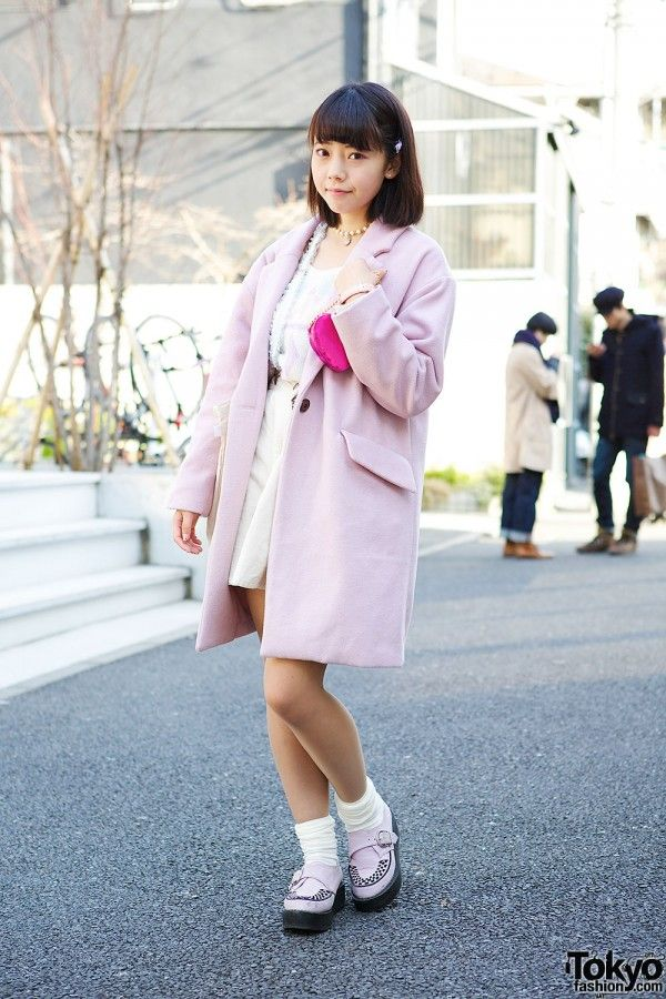 ed20ab25 Miichan is a 17-year-old #Japanese idol (from the group Tochigi Idol  Project) who we met in #Harajuku. Her look features a cute pink WEGO coat,  a princesses ...
