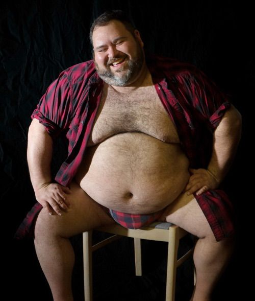 Chubby fat hairy husky man
