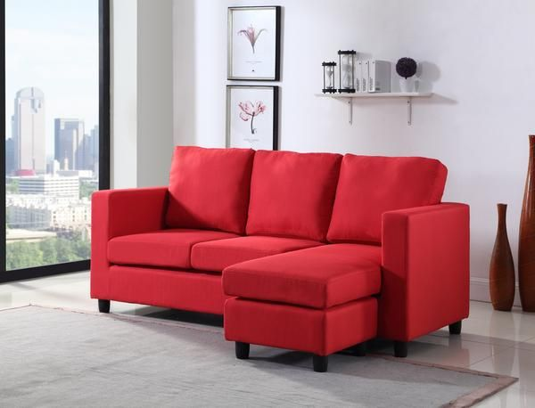 Newport Red Small Sectional Small Sectional Sofa Sectional Sofa Red Furniture Living Room