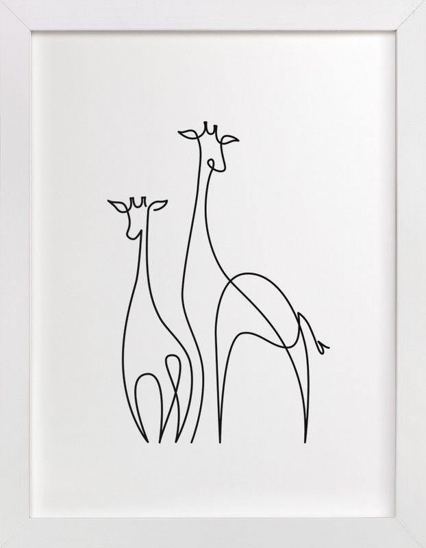 """Raffe"" – Drawing Art Print by Erin Deegan."
