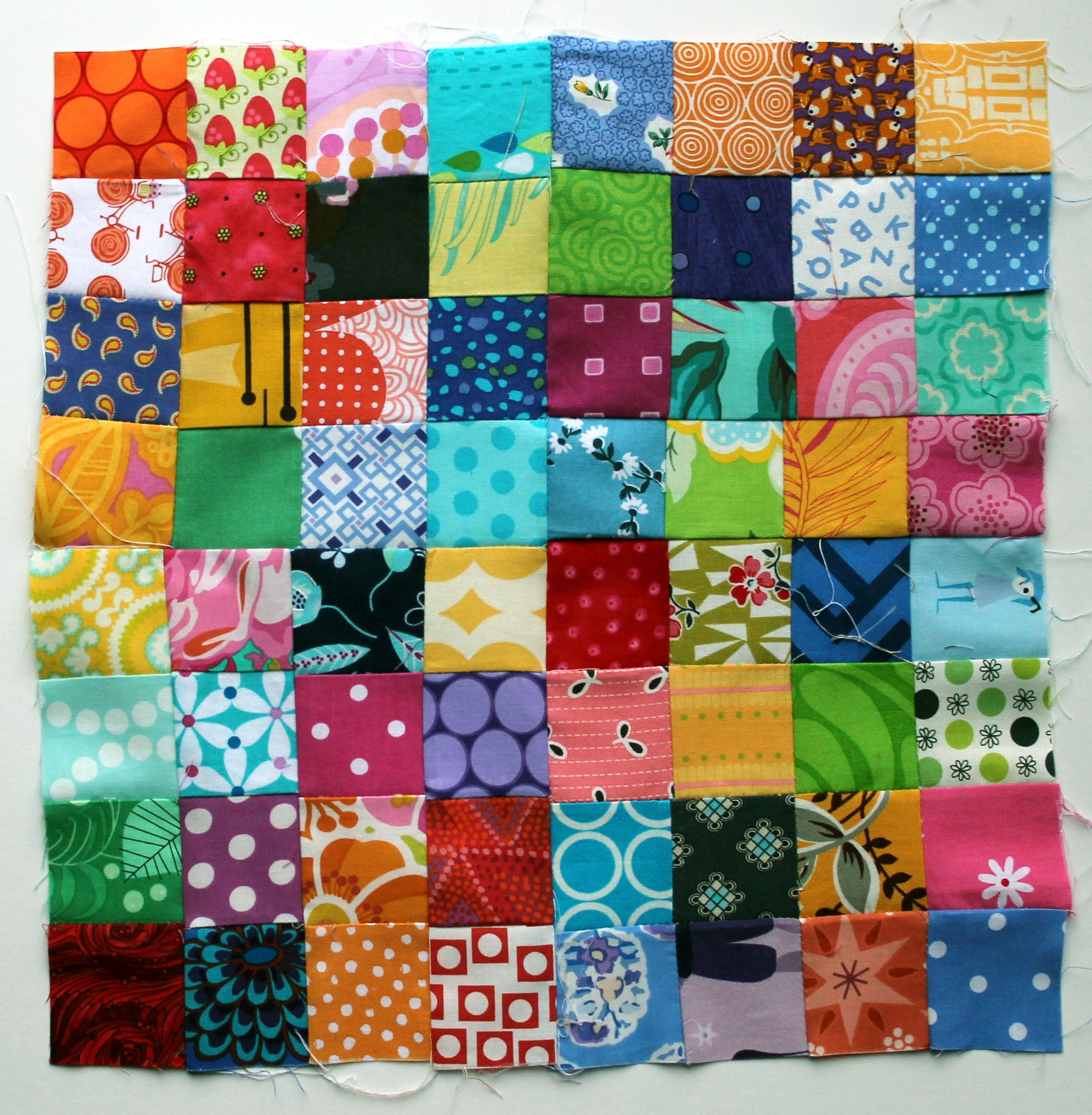 Postage Stamp Quilt Block With Tutorial
