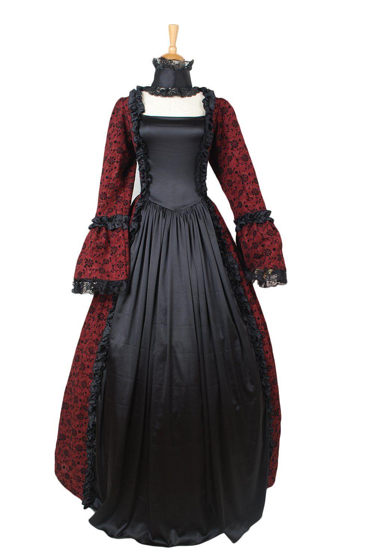 Avalolita aristocratic black and red floral printed lolita victorian