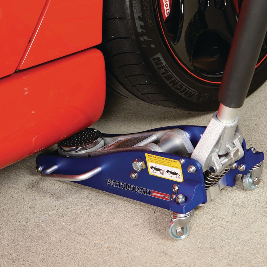 Pittsburgh 1 5 Ton Aluminum Racing Floor Jack With Rapid Pump For