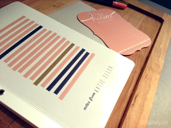 minted journal and stationery