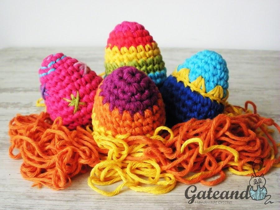 Patrón para tejer huevos de Pascua a crochet | Manualidades | RED ...