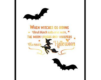 Attractive Halloween Witch Quote Print, Funny Quote, Halloween Decor, Instant Download  Form Stampovesink On
