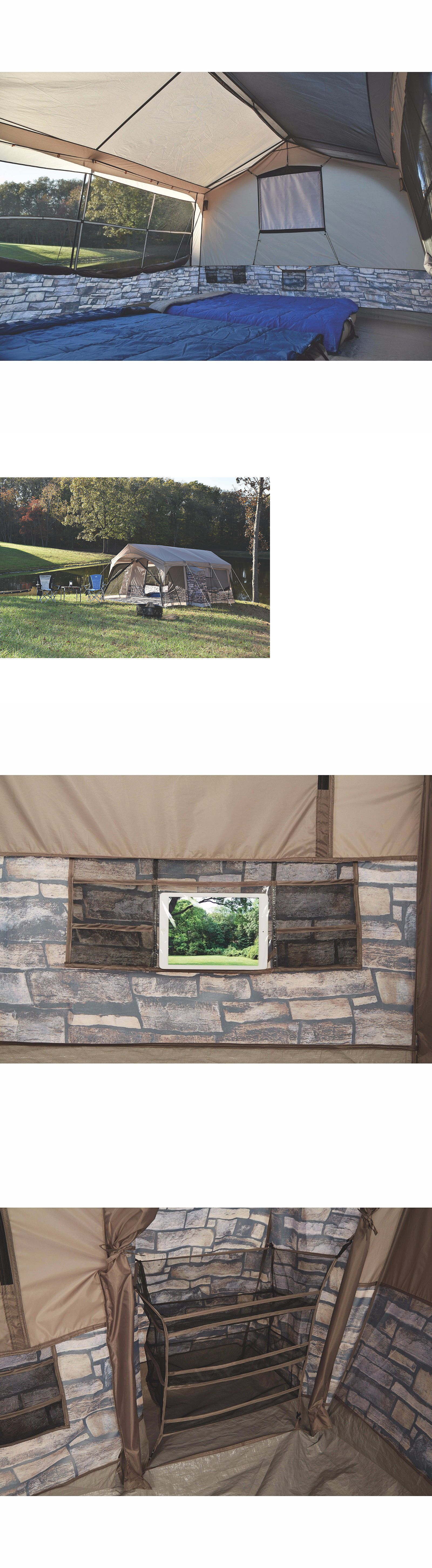 Tents 179010 Cabin Stone Cottage Tent 8 Person C&ing Family Lighting And Projector Screen - & Tents 179010: Cabin Stone Cottage Tent 8 Person Camping Family ...