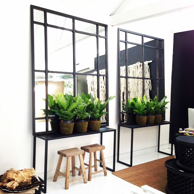 Incredible Industrial Looking French Mirrors Featuring A