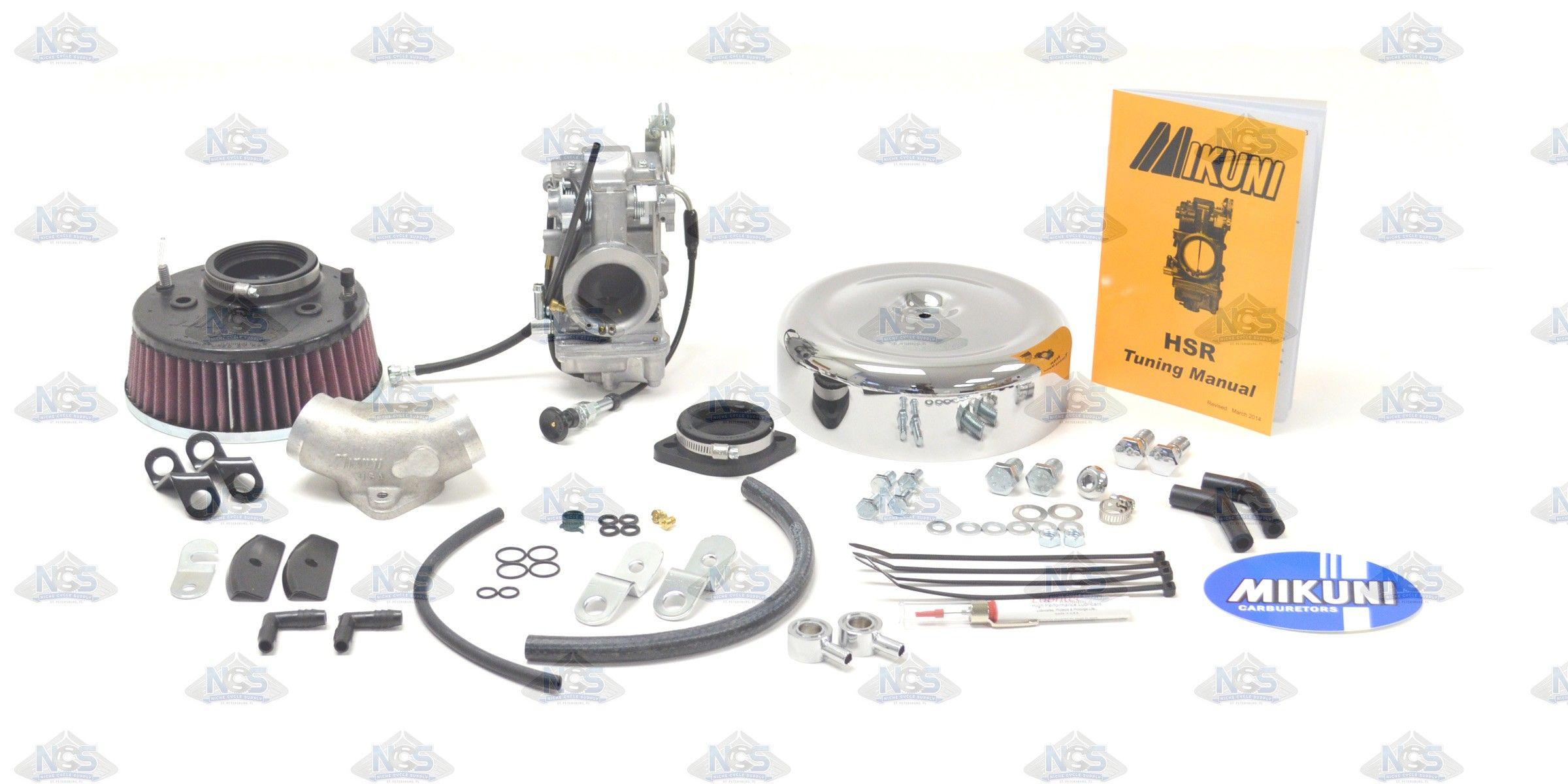 Mikuni Harley Davidson HSR42 Total Carburetor Kit Big