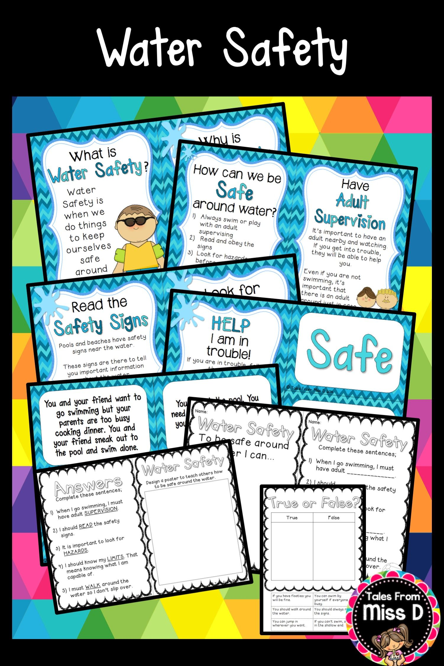 This Pack Contains Resources To Teach Your Students About Water Safety The Pages Can Be Bound