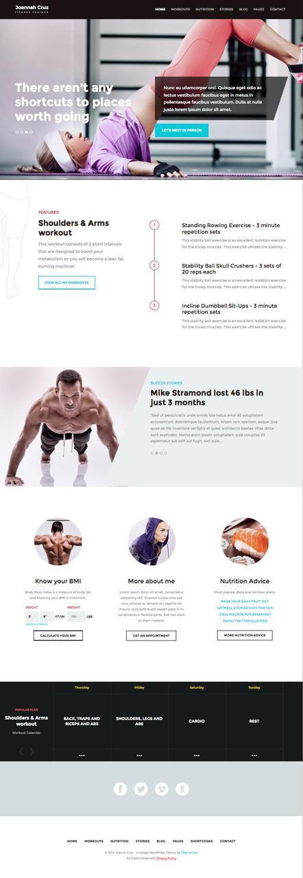 Sundae Studio Solusi Internet Marketing Fitness Design Gym Personal Trainer Website Fitness Websites