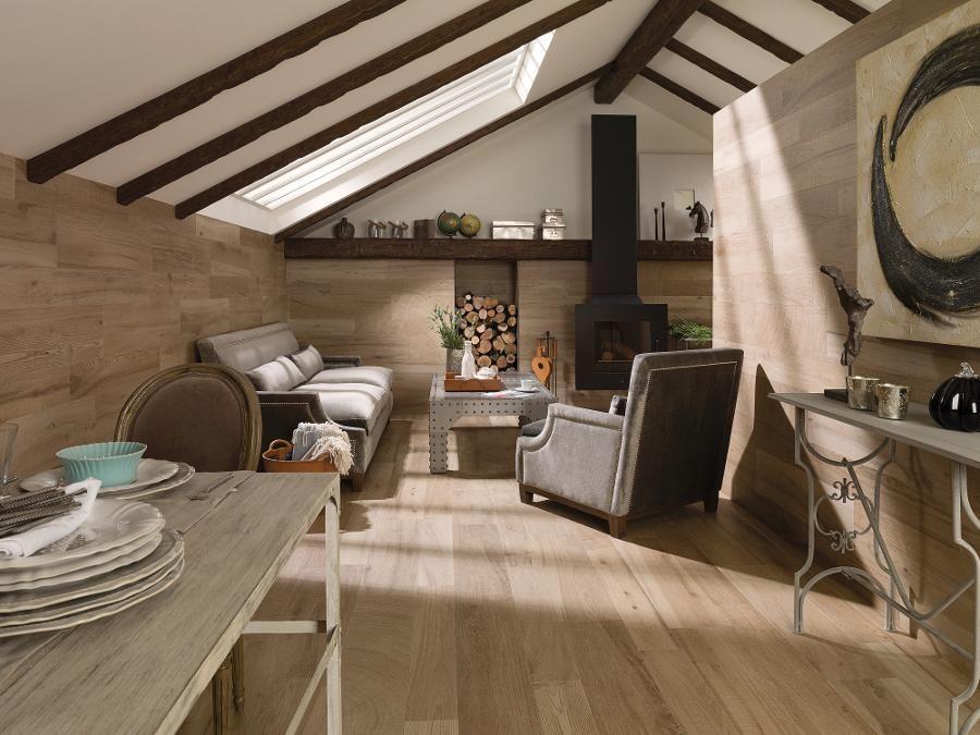 Ascot roble floor tiles parker porcelain wood look tiles for Carrelage faux parquet