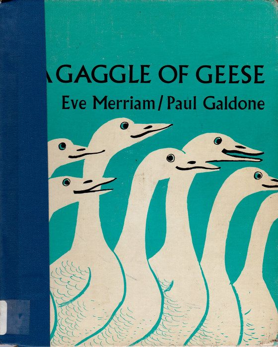 vintage kids animal book A Gaggle of Geese, Paul Galdone retro 1960s illustrations,