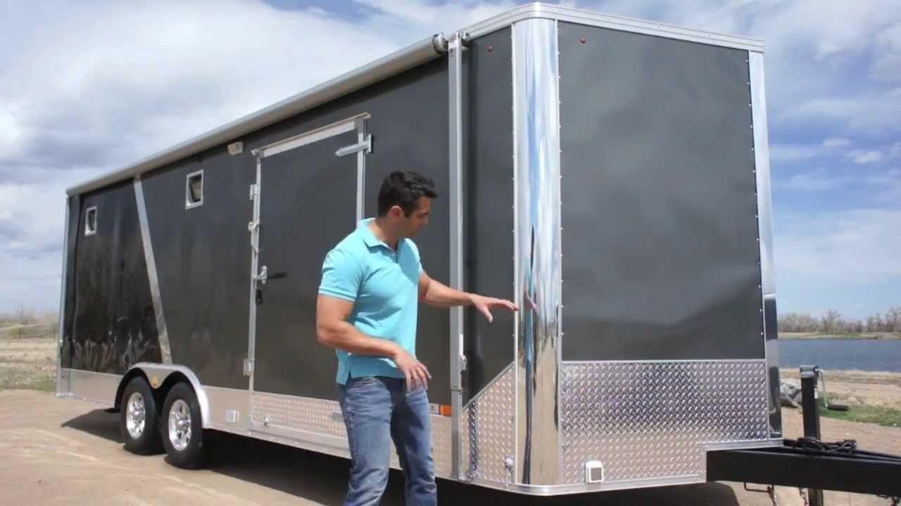8 5 x 25 all season enclosed cargo carhauler trailer furnace a c cabine