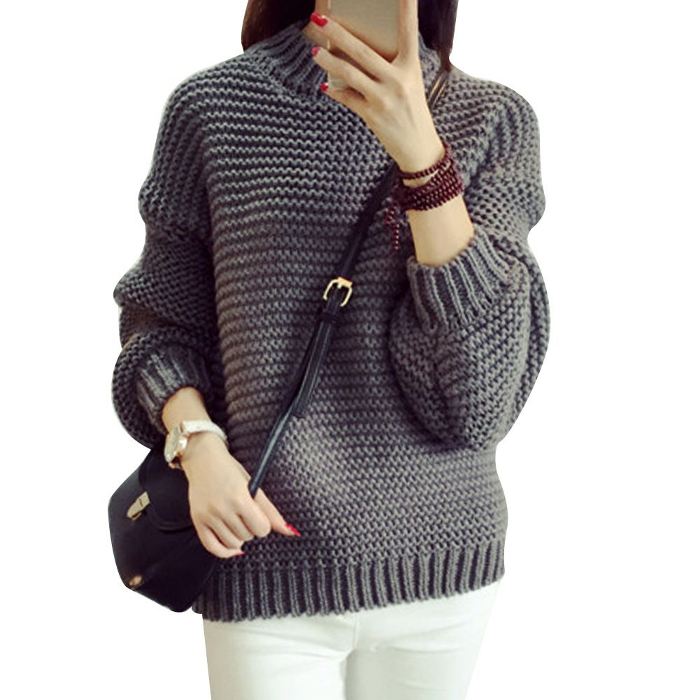 O-neck Casual Knitting Wear Tops Outwear Oversized Sweater | Shops ...