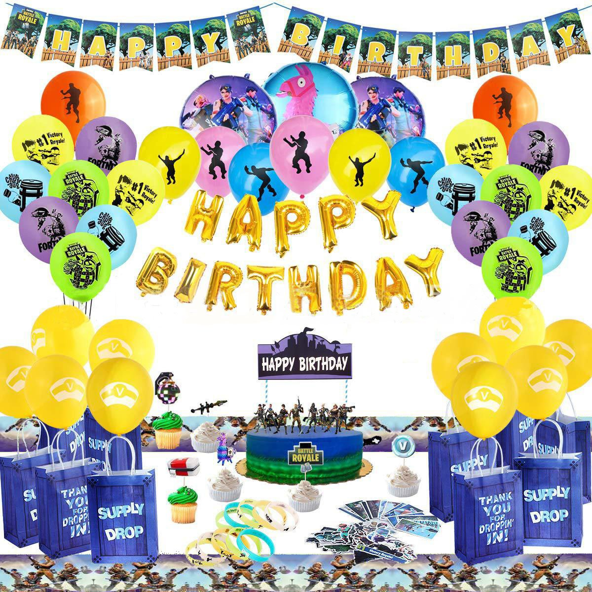 Fortnite Themed Balloons Party Supplies Whole Set Birthday Party