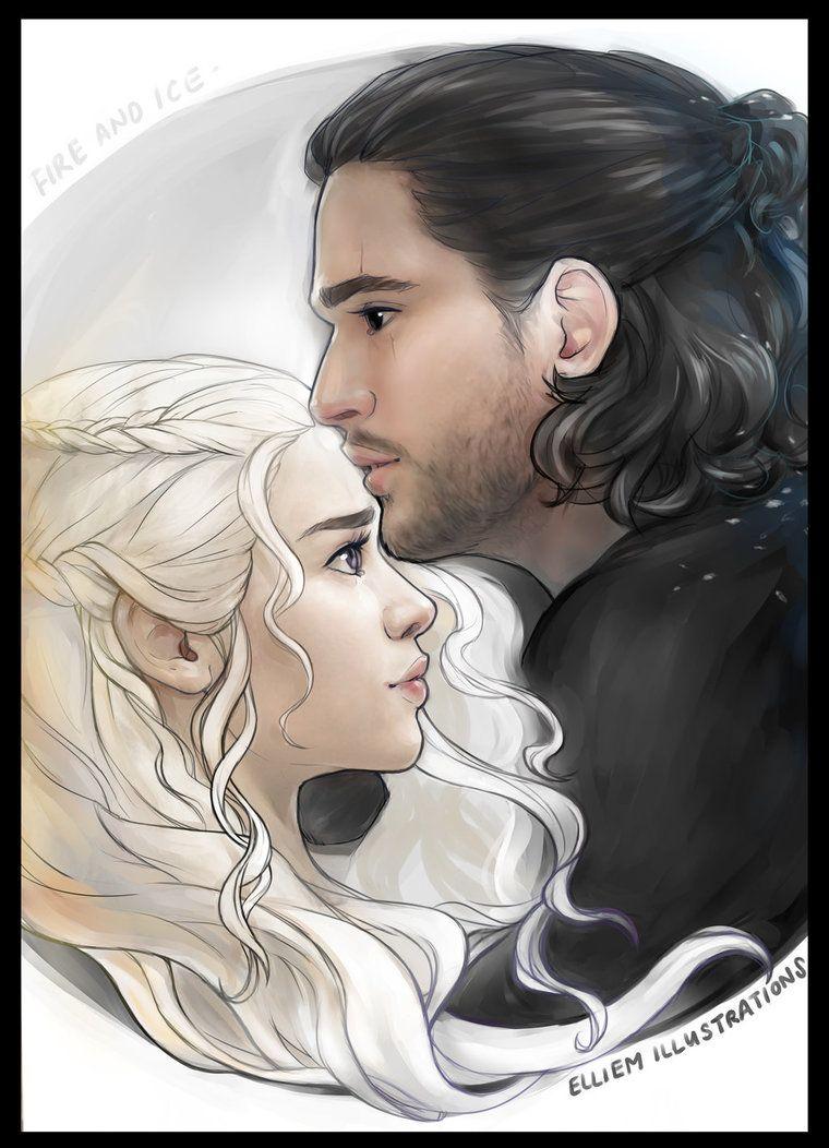 Jon And Daenerys Artwork Gameofthrones Fanart Jonerys Jon